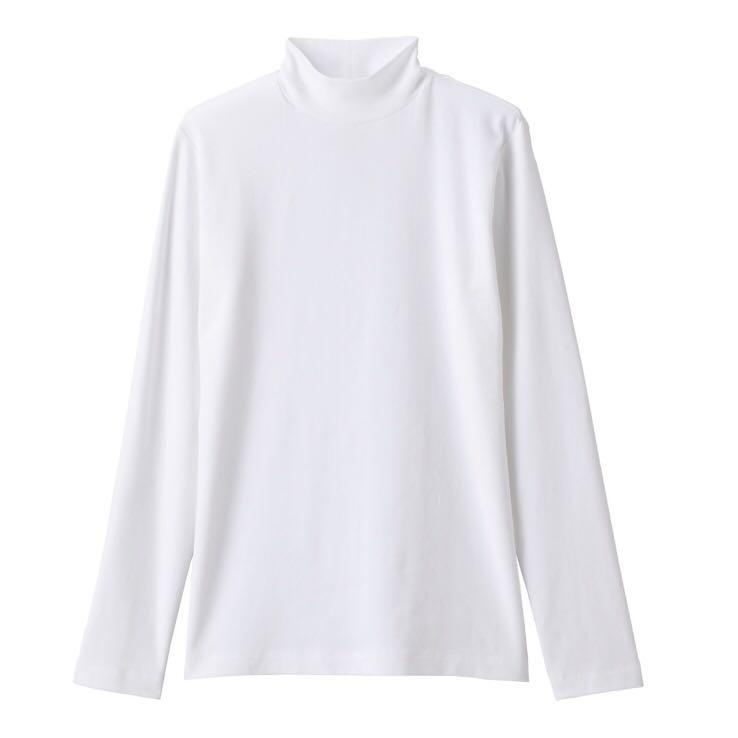 Muji Organic Cotton Stretch High Neck T Shirt