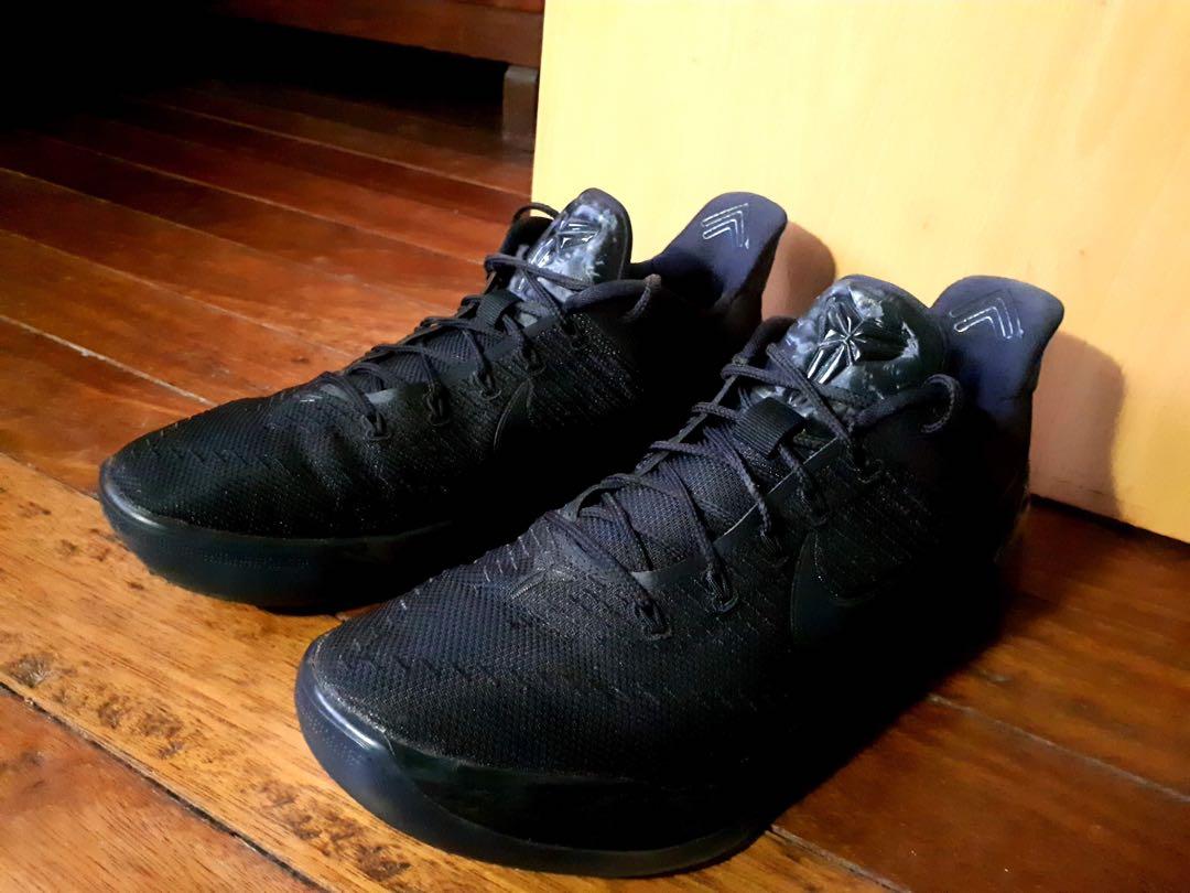 Nike Kobe Ad Triple Black Men S Fashion Footwear Sneakers On Carousell