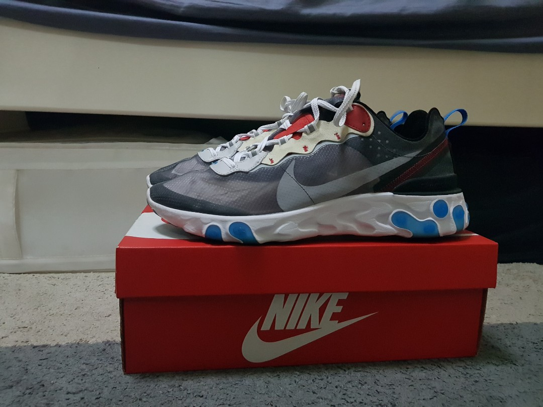 low priced e6497 b3643 Nike react element 87 Photo Blue, Men s Fashion, Footwear, Sneakers ...