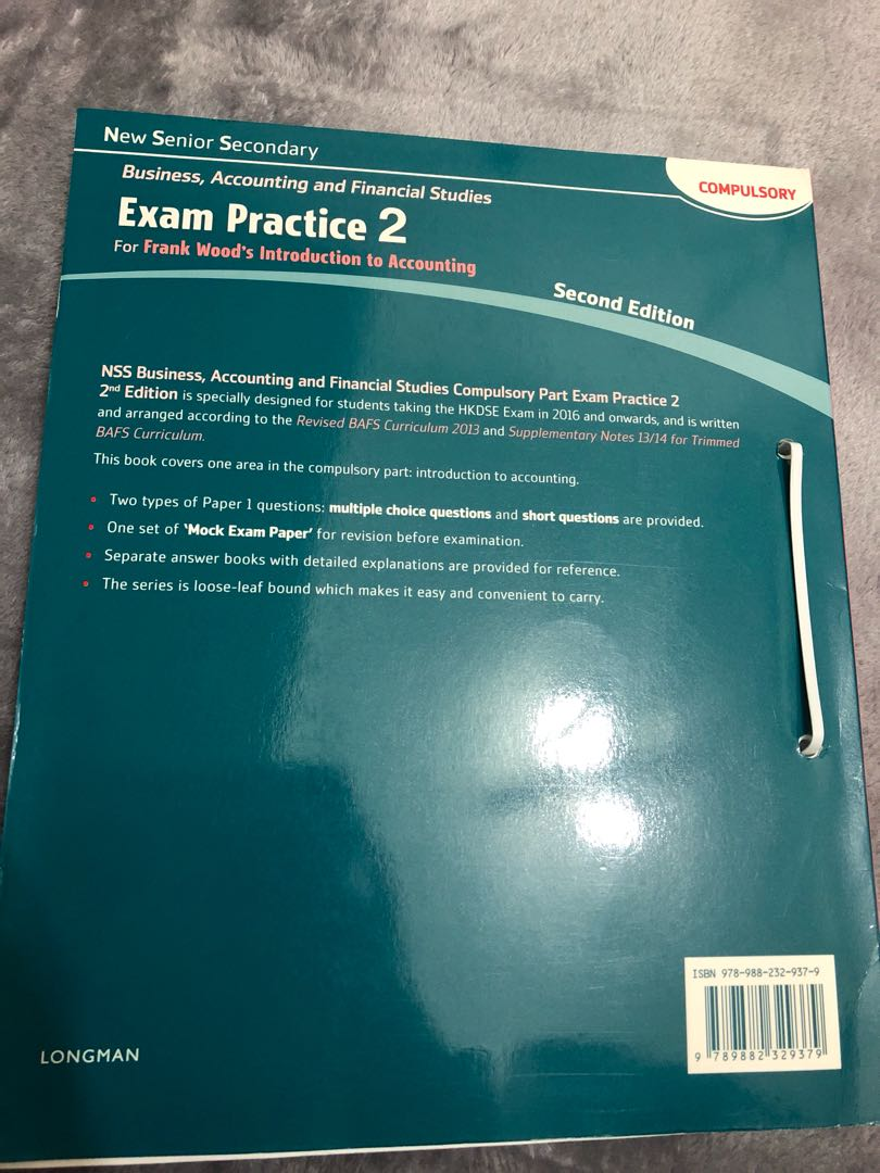 NSS Business,Accounting and Financial Studies Exam Practice 2 (Compulsory  Part) Second Edition PEARSON