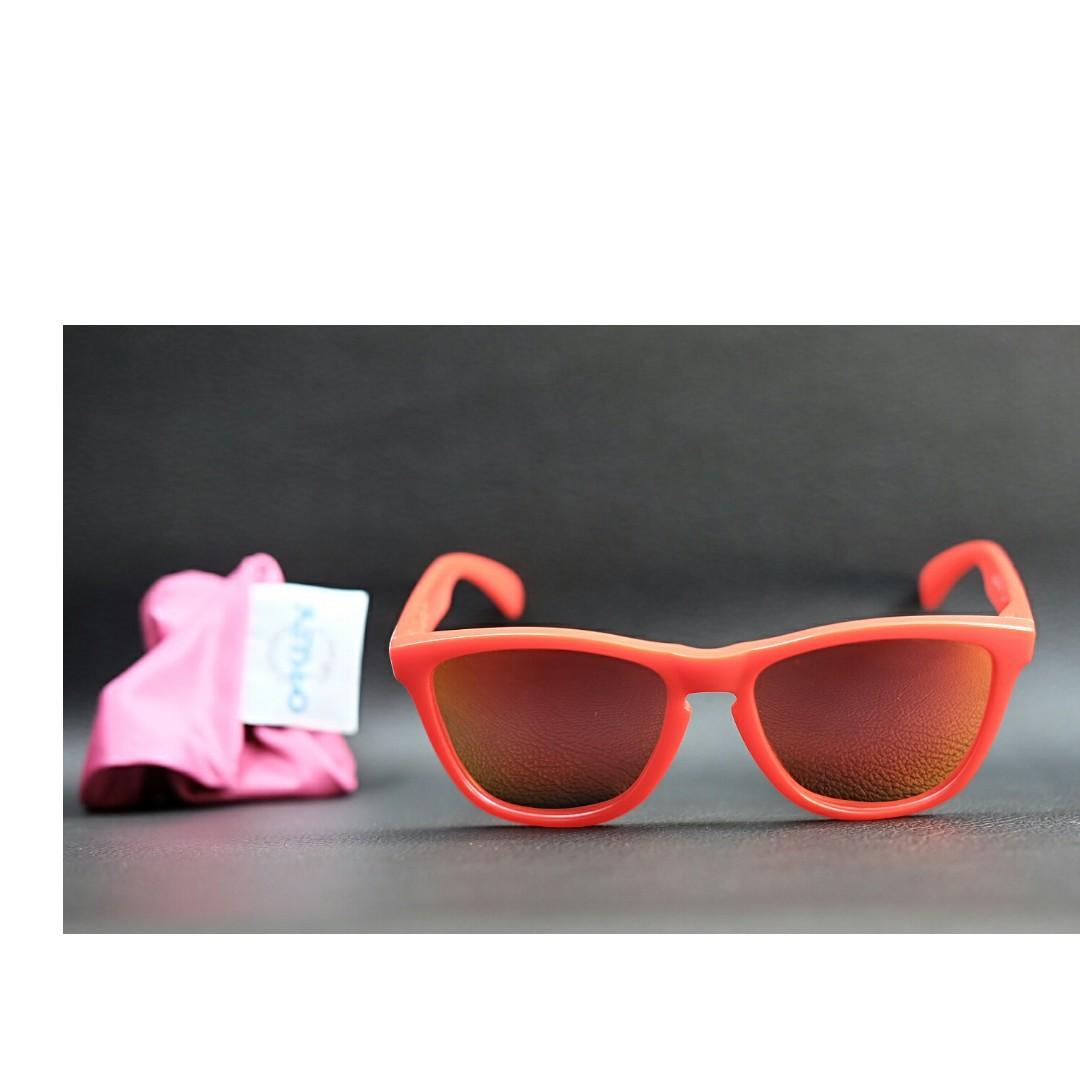 52f2736000 Original kacamata oakley Frogskins matte red fire iridium polarize ...