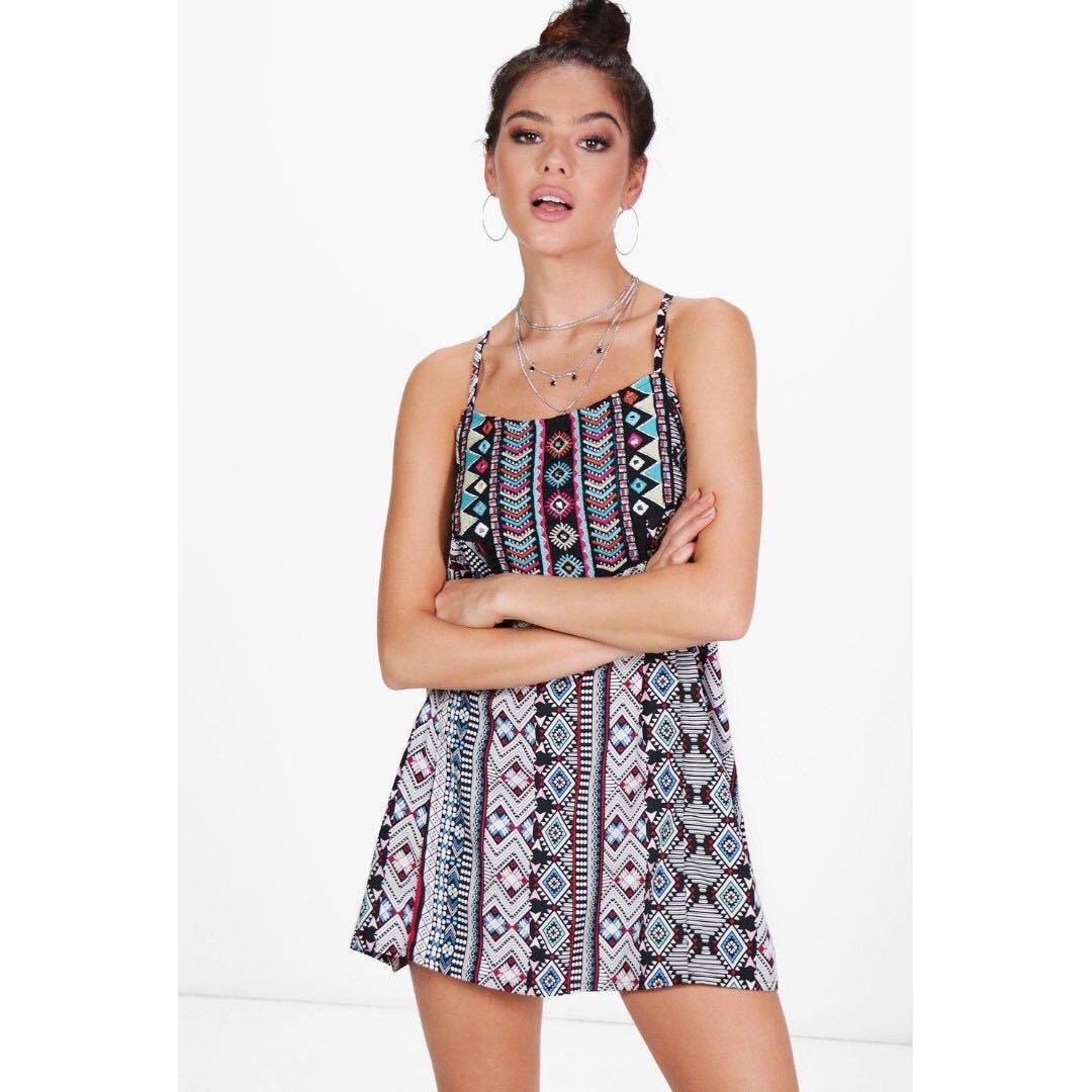 e674bf848c93 SALE* BOOHOO Petite Libby Embroidered Detail Column Mini Dress ...
