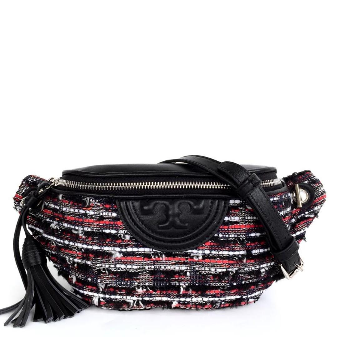 eb2941e07275 Tory Burch Fleming Tweed Belt Bag