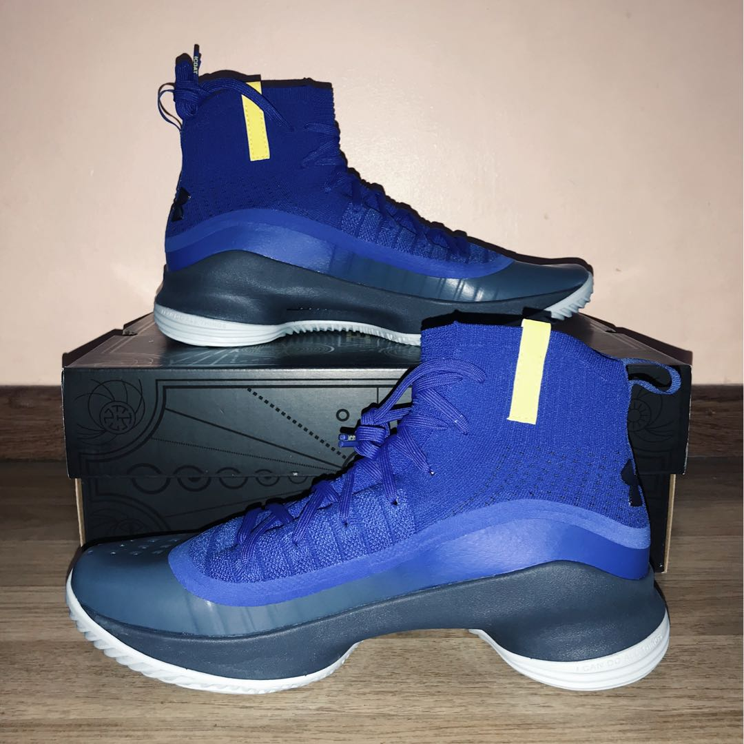 5b92cb34025 Under Armour Original Stephan Curry Curry 4 Mid Top SC MEN Basketball Shoe  Global Sales (Blue Black)