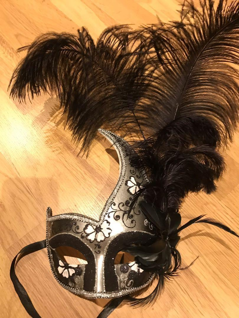 Venetian mask. Very good condition. Worn once to a fancy party. $30. Not the cheap plastic type.
