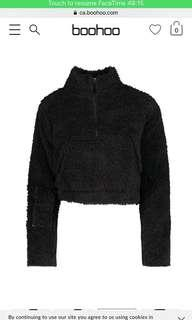 Boohoo Teddy Zip Sweater
