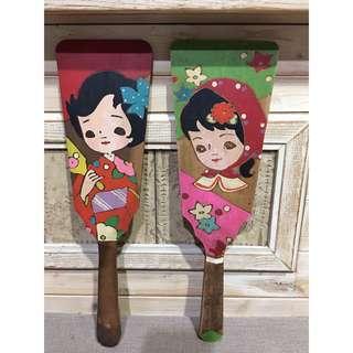 🚚 日本 早期手繪木製童玩