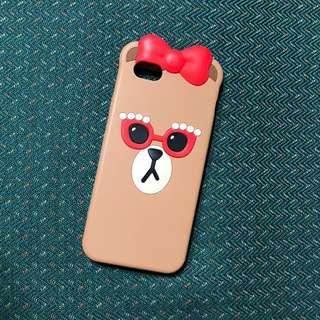 🚚 LINE FRIENDS正版熊美CHOCO iphone6 6S矽膠保護殼 熊大 兔兔 莎莉