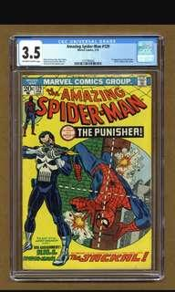 Amazing Spiderman 129 cgc 3.5 first app of the punisher