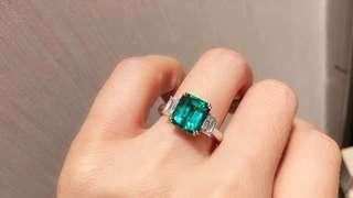 詢價 2.77ct- 18K金天然祖母綠鑽石戒指 GRS證書 Natural emerald dia ring