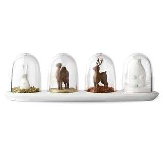 Animal Parade Dome Seasoning Bottles