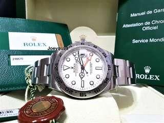 (CERT & Box) ROLEX EXPLORER 2 WHITE 216570 Full Set! Latest 42mm model!