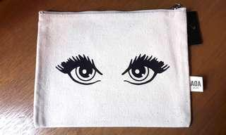 Statement makeup pouch