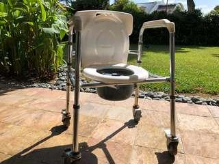 Commode (with wheels)