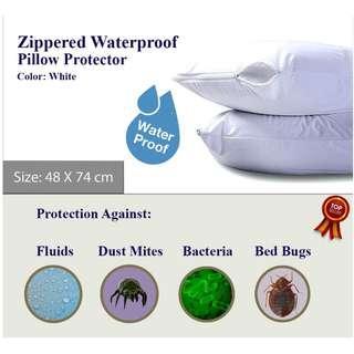 Waterproof Zippered Pillow Encasement Bed Bug Proof Pillow Protector