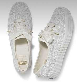 9aea674868b Keds x Kate Spade Triple Glitter in Cream