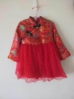🚚 過年洋裝 牡丹鳳凰