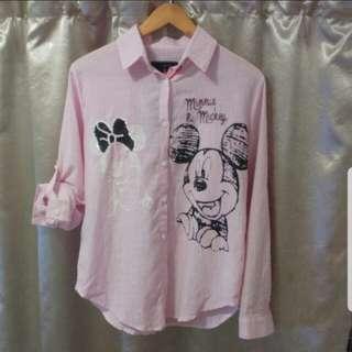 全新粉紅公仔恤衫
