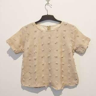 Linen Ruby Cream Boxy Top