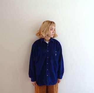 🚚 深藍燈芯絨襯衫🔥賣場商品任選兩件9折 3件85折🔥