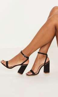PrettyLittleThing Block Strap Heel