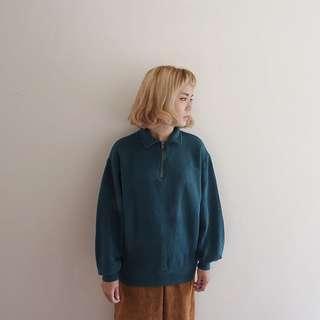 🚚 綠色半拉鍊長衫🔥賣場商品任選兩件9折 3件85折🔥