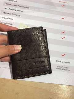 NEW Fossil men wallet - sisa BLACK