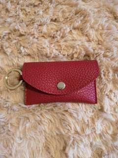 Red Indigo Card Holder