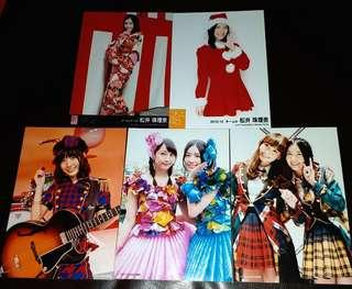 SKE48 AKB48 松井珠理奈 公式生寫真 エレキハート 心のプラカード 希望的リフレイン 店舖特典 Halloween Night 劇場盤 劇場月別生寫