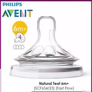 Philips Avent Natural Teat (6m+)