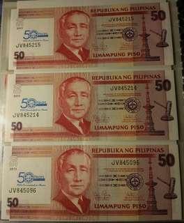 50 peso NDS overprint