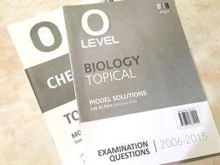 Free O Level Topical TYS Answer Booklet