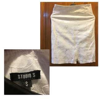 Floral White Skirt- Item0216