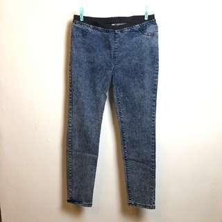 🚚 牛仔褲 鬆緊褲頭 L號