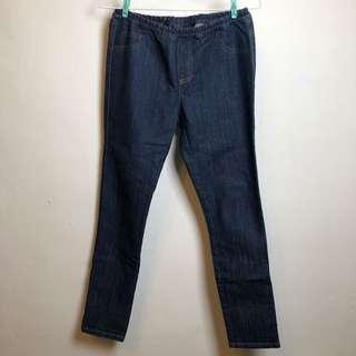 🚚 牛仔褲 鬆緊褲頭 M號