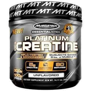 in stock Muscletech, Essential Series, Platinum 100% Creatine, Unflavored, 14.11 oz (400 g)