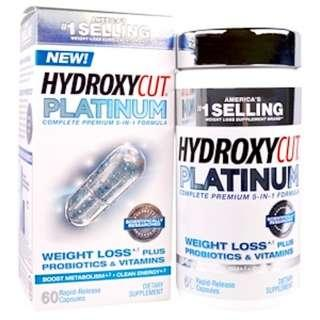 Ready stock Hydroxycut, Hydroxycut Platinum, 60 Rapid-Release Capsules