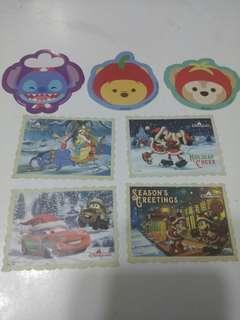 (包平郵)香港迪士尼貼紙(7張)