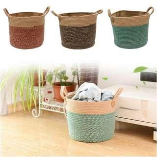 🚚 Woven Basket Flower Pot Plant Basket Flowers Basket