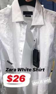 Zara Regular Fit White Shirt