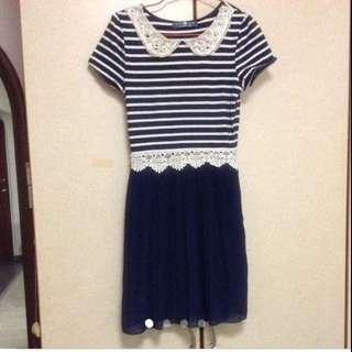 $89 Non-iron Sweet Pleated Dress From London ( Brand New)