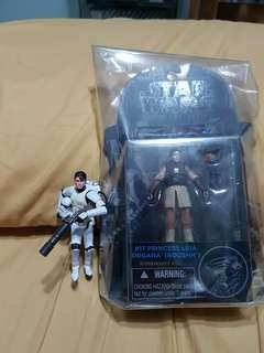 """Star Wars 3.75"""" Black Series Princess Leia Organa (Boushh) and Legacy Collection Imperial Spacetrooper"""