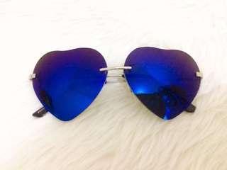 Blue Heart Shape Sunglass