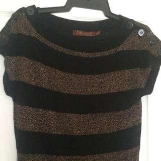 Black & Gold Knit