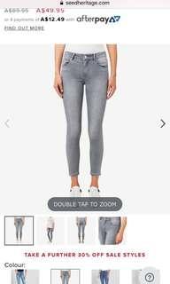 Seed Light Grey Denim Jeans