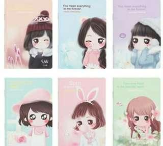 [Clearance] 20pc Cute Girl Notebook