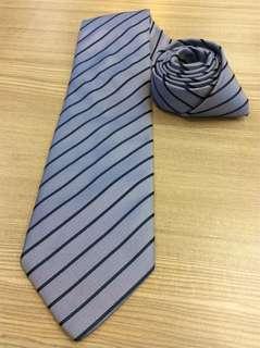 🚚 國際名品 Daddy & son 100%真絲 超強光澤 立體感 高級手打領帶
