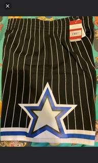 NBA Mitchell & Ness mn m&n orlando magic pants shorts penny foamposite