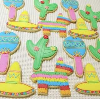 Mexican/fiesta themed sugar cookies