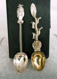 Antique Vintage Chinese Export Silver Spoons
